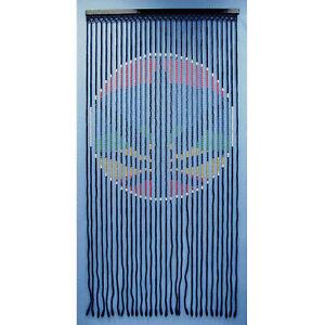 RASTA-LEAF-Wood-Bead-Door-Curtain-NIB-6428