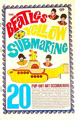 SALE Vintage BEATLES 1968 YELLOW SUBMARINE Pop Out Art Decorations Book UNUSED