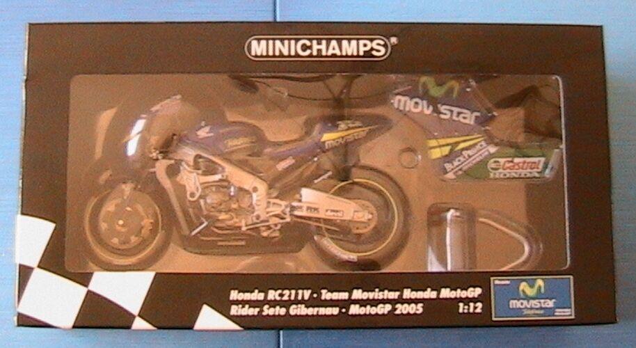 HONDA RC211V TEAM MOVISTAR SETE MOTOGP 2005 RIDER SETE MOVISTAR GIBERNAU MINICHAMPS 122051015 da884a