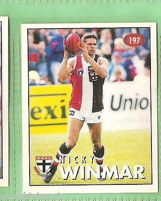 1996 AFL SELECT  STICKER  #197  NICKY WINMAR, ST KILDA SAINTS