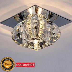 New Modern Crystal LED Ceiling Light Hallway Lights Chandelier ...
