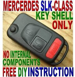 98-04-MERCEDES-BENZ-SLK-CLASS-FLIP-KEY-KEYLESS-REMOTE-FOB-CASE-FREE-INSTRUCTION