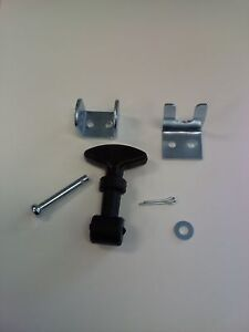 JEEP CJ WRANGLER WILLY'S CHEROKEE AMC RUBBER T HANDLE HOOD LATCH KIT SET OF 2