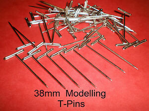 T-PINS-38mm-LONG-FOR-MODELLING-amp-CRAFTS-x-50-PINS