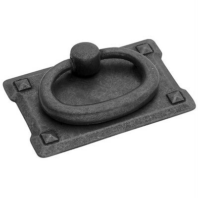 "Belwith PA0711-BMA Ring Pull ""Old Mission"" Black Antique Iron Drawer Knob Handle"