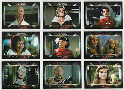 Star Trek Quotable Movies Chase/Insert Women of Expansion Set of 9 cards 82-90