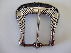 Nickel-End-bar-Harness-Belt-Buckle-USA