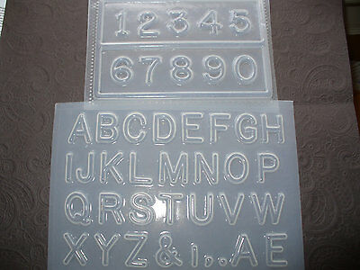 "Resin Mold Alphabet Letters and Numbers 1"" 25mm Clock numbers Signs Jewelry"