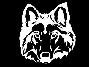 Wolf-Head-Decal-wild-animal-car-truck-window-vinyl-wall-art-sticker-graphic