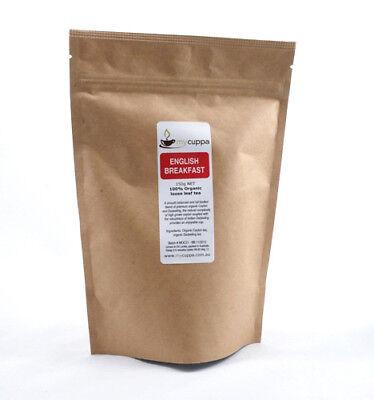 100% Organic English Breakfast Loose Leaf Tea - 150g