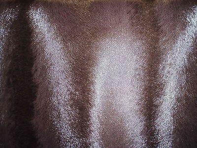 MUSTER zu 1A Kunstleder Meterware Tierfell Dunkelbraun 1,6mm dick 7cm x 10cm