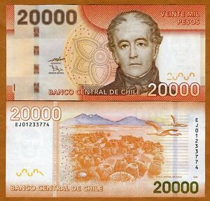 Chile-20000-20-000-Pesos-2009-P-New-UNC