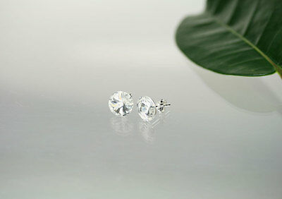 Ohrstecker 925 Silber mit 10mm SWAROVSKI ELEMENTS Crystal Farbe Crystal