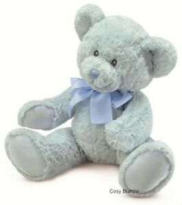 RUSS Berrie Newborn Boy Blue Teddy Bear Sweet Beginnings Baby Safe Large