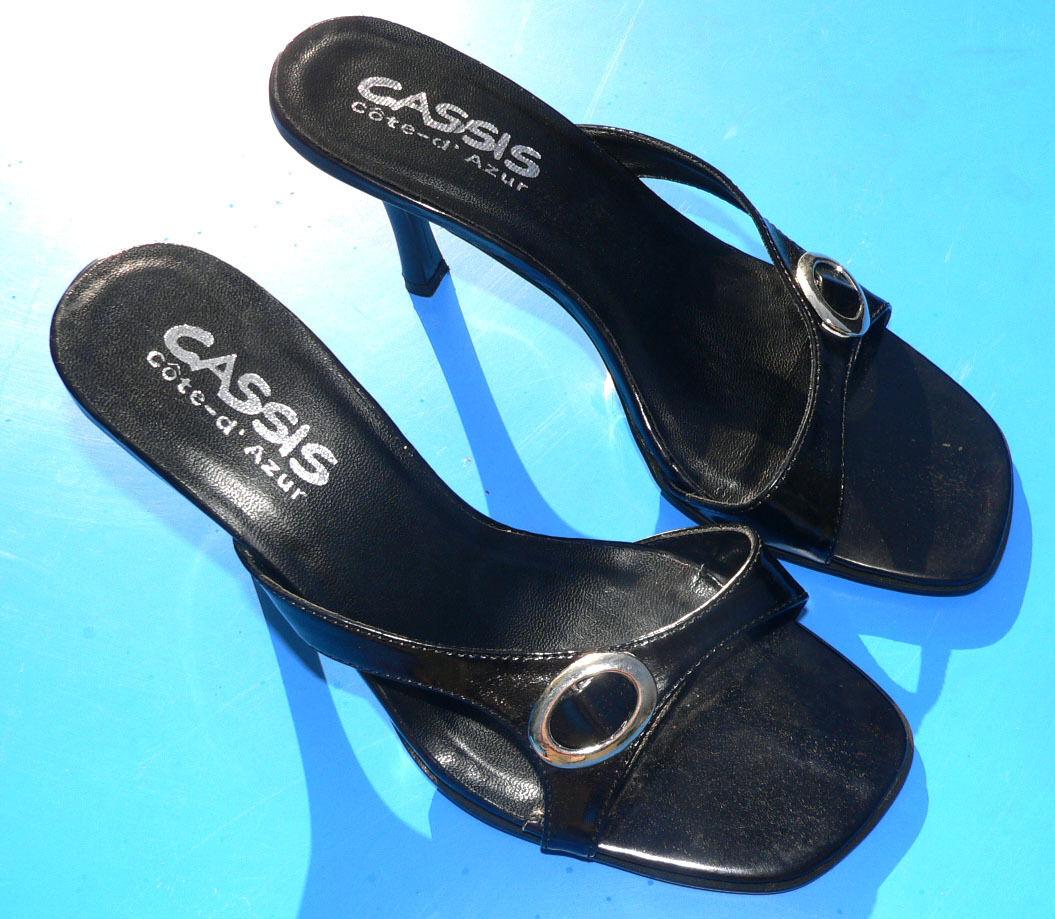 escarpins sandale T38 années - 60 chaussures shoes retro 38 - années neuves df116d