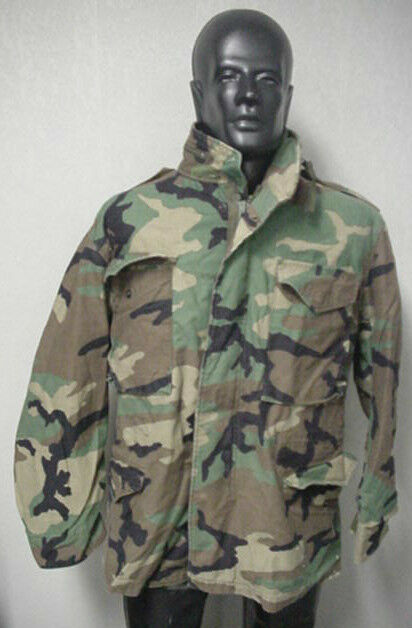 WOODLAND CAMO FIELD JACKET, USED IN GOOD CONDITION