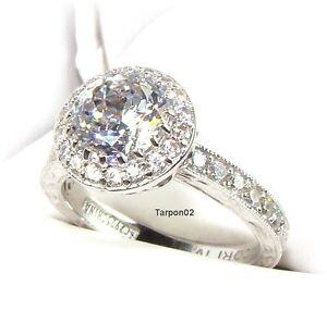 tacori diamonique epiphany 2 50ct halo bloom cut - Qvc Wedding Rings