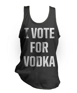 I-VOTE-FOR-VODKA-Funny-drinking-black-American-Apparel-2408-Fine-Jersey-Tank-Top