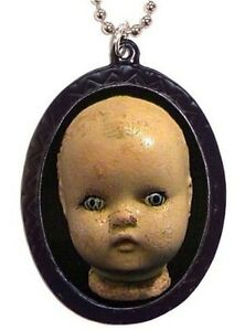CREEPY-OLD-DOLL-Necklace-Horror-Goth-Gothic