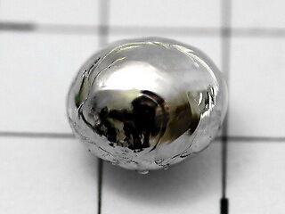 Rhodium Schmelzperle 1.0g - 99.97% Reinheit