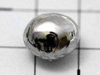 Rhodium metal bead 1.0g highly shiny - 99.97% purity incl. COA