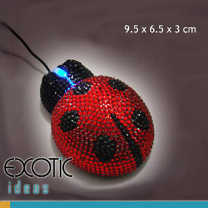 Optical-Computer-Mouse-w-Crystal-Rhinestone-Ladybug-Design-With-Blue-Light