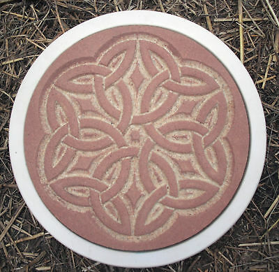 Plaster,concrete celtic stepping stone plastic mold