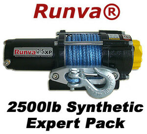 2500lb-New-Runva-ATV-UTV-12V-Towing-Recovery-Electric-Winch-Kit-W-Synthetic