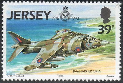 Hawker / BAe HARRIER GR1a / RAF Aircraft Airplane Mint MNH Stamp (Jersey 1993)