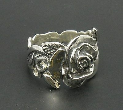 STERLING SILVER RING FLOWER QUALITY SOLID 925 NEW SIZE 4 - 11 R000217 EMPRESS
