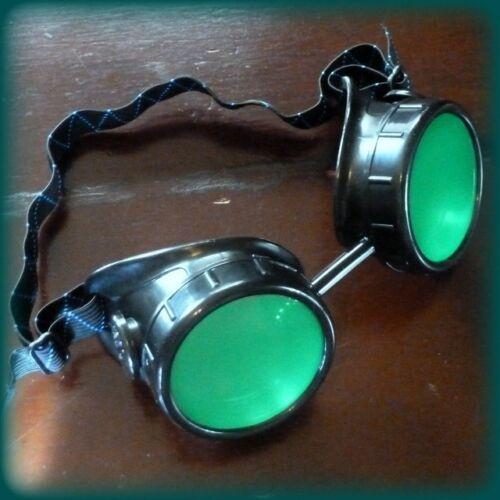 Steampunk goggles glasses welding cyber punk biker gothic rave cosplay aviator