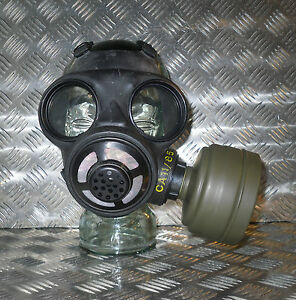 Genuine-Black-Rubber-Gas-Mask-with-Filter-Size-Adjustable-Brand-NEW