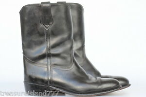 Insulated frye leather motorcycle work pull on boots 13 ee made in usa