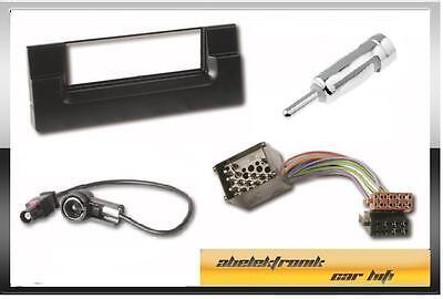 Radioblende + ISO Adapter + Antennenadapter BMW 5 er / E39 /  BMW X5 / E53 /
