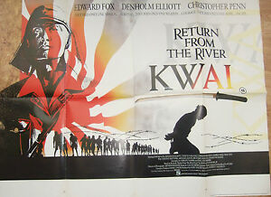 Edward-Fox-Chris-Penn-RETURN-FROM-THE-RIVER-KWAI-1989-Original-movie-poster