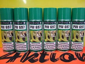 6x-400ml-Schutzwachs-Spray-Tectane-farblos-Langzeitschutz-Karosserie-Metallteile