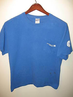 Continental Airlines CO General Electric Aviation Summer 2007 Grunge T Shirt Lrg