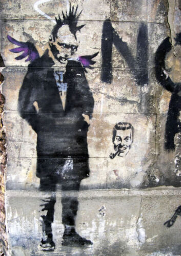 Banksy-Punk Angel Graffiti street art