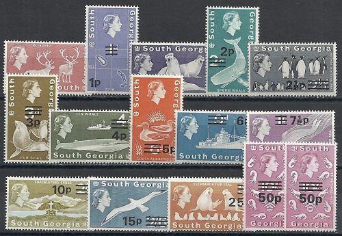 South Georgia 1970 SG 18-31a+31b  MNH  VF
