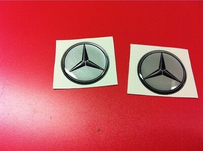 2 Adesivi Resinati Sticker 3D MERCEDES 20 mm