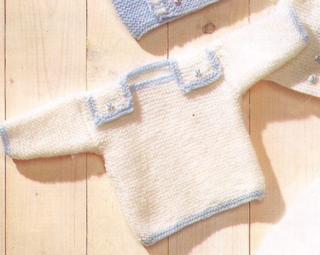 Easy Cross Over Baby Jackets Berets Amp Sweater Dk 12 Quot 18
