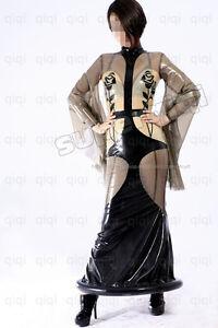 Latex-rubber-Rose-Dress-Suit-Catsuit-Uniform-Unique