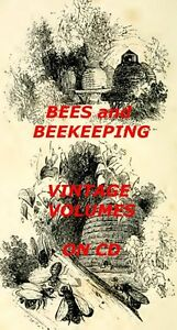 48-OLD-BOOKS-BEES-BEEKEEPING-CD-HONEY-MAKING-HIVES-ANTIQUE-BOOK-COLLECTION