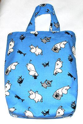 Moomin Small Blue Canvas Tote Bag Finlayson Fabric