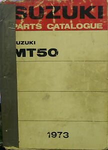 GENUINE-SUZUKI-1973-MT50-PARTS-CATALOGUE-MT50R-MT50J-MT50K