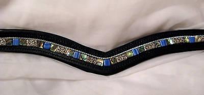 Abalone Dressage English Bridle Browband Brow Band