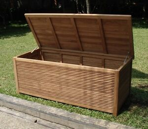 "A GRADE TEAK 65"" PREMIUM POOL CUSHION STORAGE BOX OUTDOOR ..."