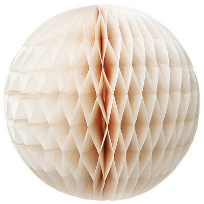 dotcomgiftshop LARGE IVORY HONEYCOMB PAPER BALL. HANGING PAPER BALL DECORATION