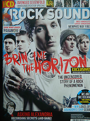 """Rock Sound  Magazine - Oct 2012 Issue - NO CD - Avenged Sevenfold     """"Sect A"""""""