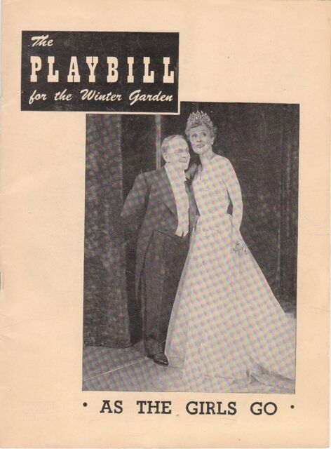 Vintage 1949 Playbill from The Winter Garden Theater for